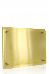 Metal Plaque Gold