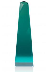 Modern Obelisk Emerald Lucite