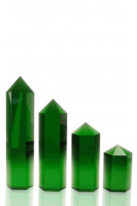 Hexagon Columns Green