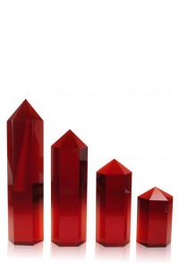 Hexagon Columns Red