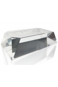Clear Beveled Rectangle Slant Base