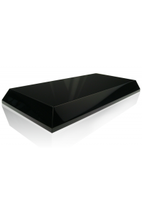Black Beveled Rectangle Base