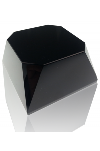 Black Beveled Square Slant Base