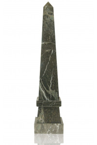 Stepped Obelisk Jade Leaf Green Marble