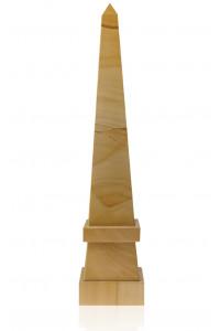 Stepped Obelisk Teak Marble