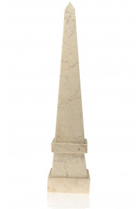 Stepped Obelisk Boticino Marble