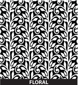 Customized Award Floral Pattern